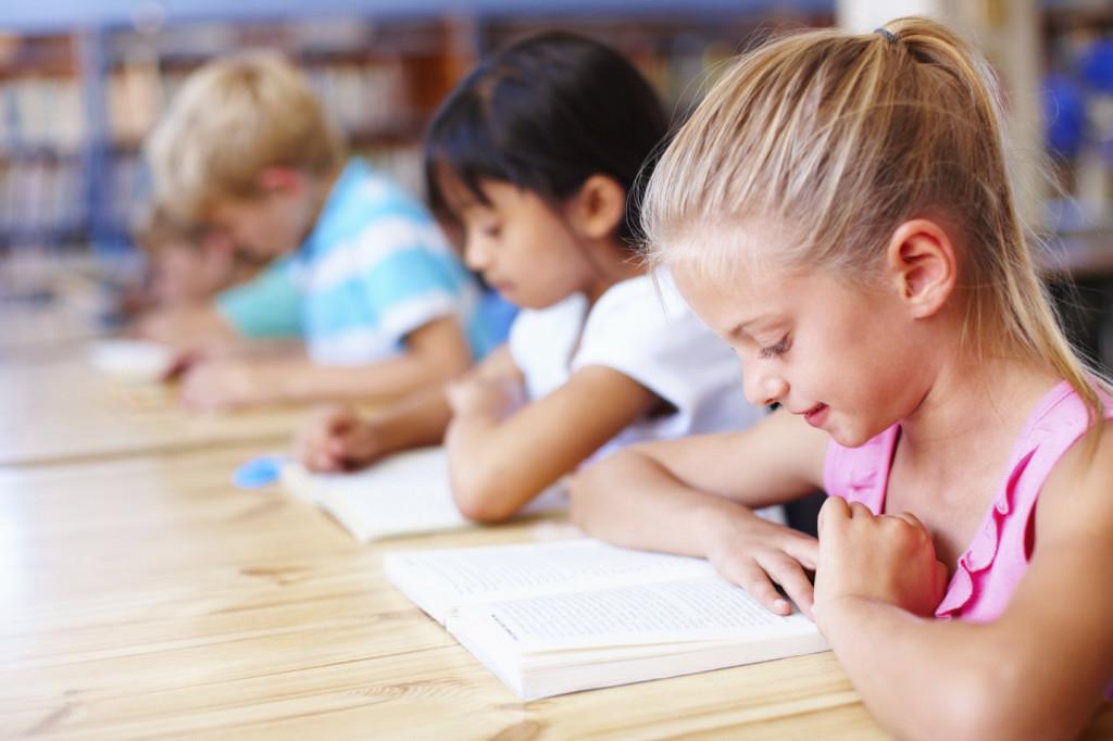 School children reading iStock_000017255139Medium