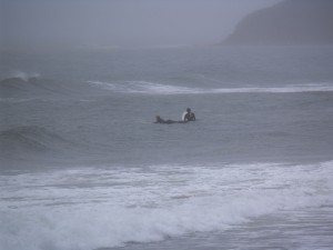 Surfing the waters off Lawrencetown, NS. Photo: Chris Benjamin