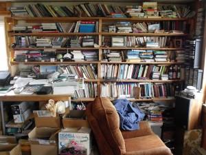 Choyce's bookshelves