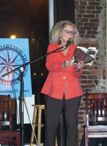 Author Elaine McCluskey reads from her book The Watermelon Social at the Dartmouth Book Awards' 25th anniversary celebration, held last December in Dartmouth.