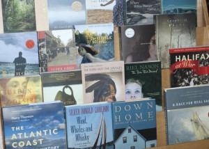 Past Dartmouth Book Award winnering books including titles by Stephen Kimber, Lesley Choyce, Silver Donald Cameron and Ann-Marie MacDonald.