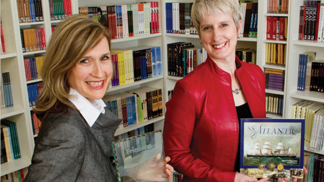 Susanne Alexander and Julie Scriver of Goose Lane Editions