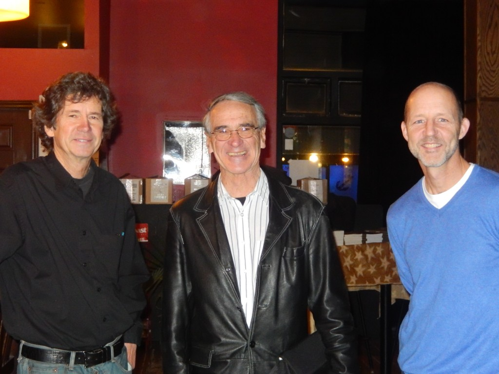 Lesley Choyce, David Mossman and  Steven Laffoley at The Company Store on Nov 20.