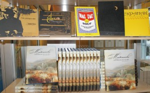 Master Works from the Beaverbrook Art Gallery is the newsest addition to a growing list of titles by Terry Graff. All of the books on the top shelf were written over the the four years he was writing Masterworks.