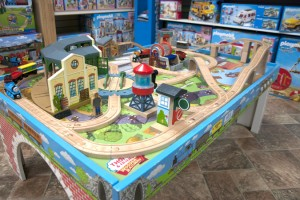 Tattletales train table