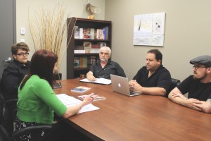 Randy Drover (Sales Representative), Laura Cameron (Marketing & Publicity Coordinator), Bob Woodworth (Manager), Jerry Cranford (Production Manager), and Peter Hanes (Digital Coordinator)