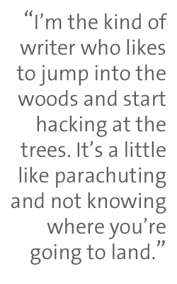 jump into the woods