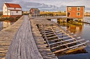 Fishing Premises, Tilting, Fogo Island, Notre Dame Bay, Newfoundland, Canada
