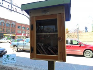 Little libraries popped-up around the city. The tiny cabinet-like libraries encourage users to discover new books and drop off old ones.
