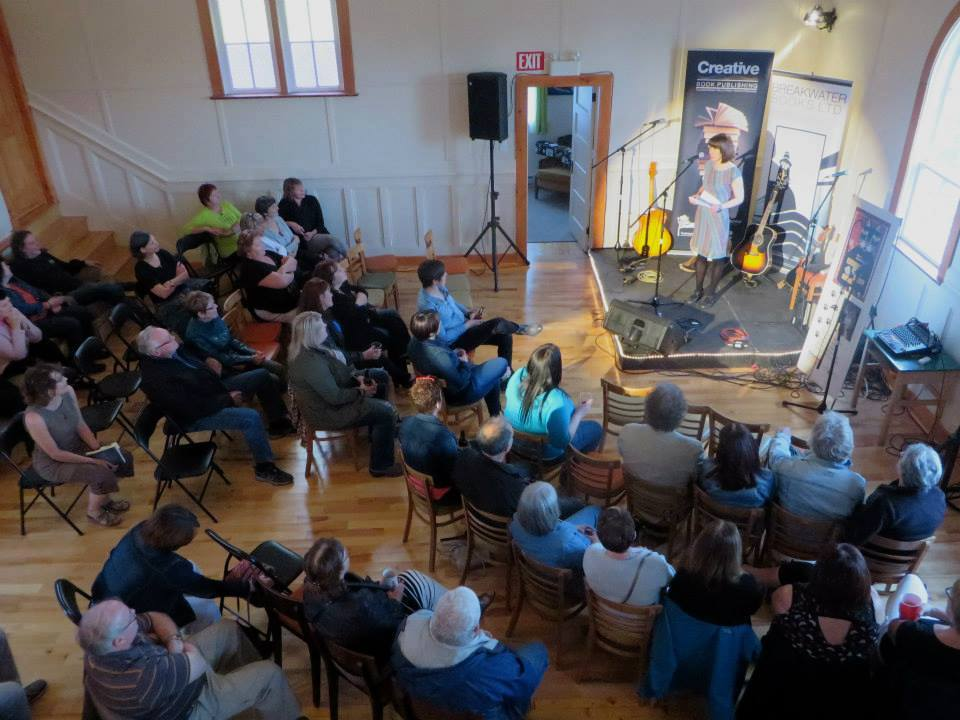 Book lovers of all ages gathered in The Church at Ochre Pit Cove, NL, for The Festival at Ochre Pit Cove June 19-20. Photo courtesy of Breakwater Books.