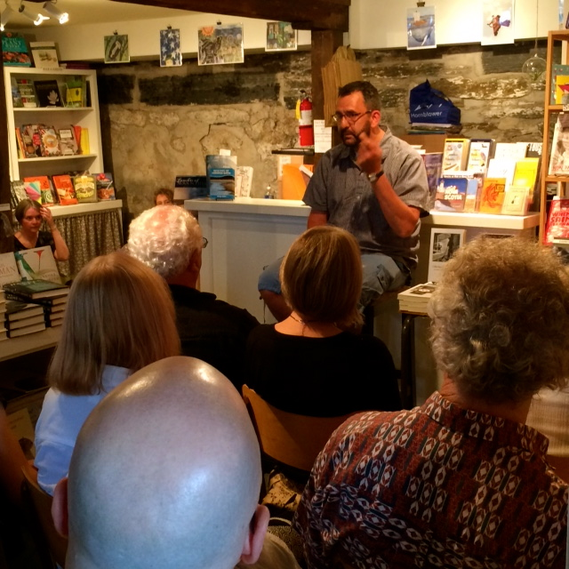 Darren Greer reads from his award-winning novel Just Beneath My Skin at Lexicon Books. Photo courtesy of Lexicon Books.