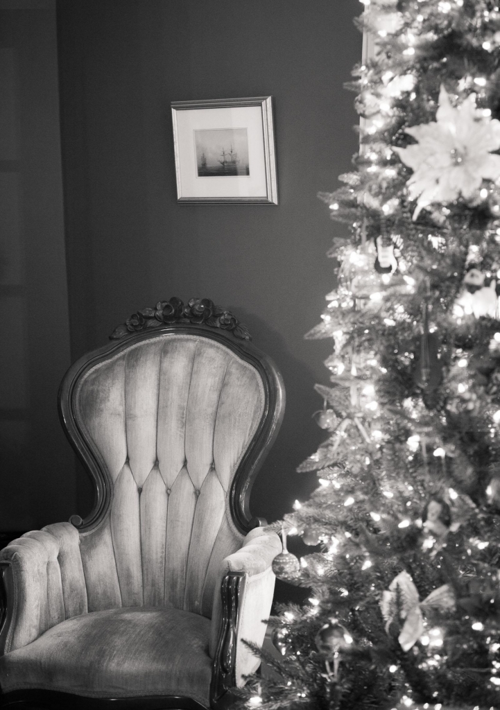 Chair and Christmas Tree