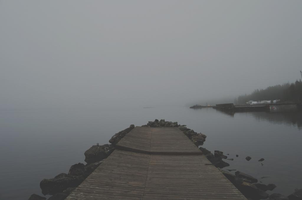 foggy jetty