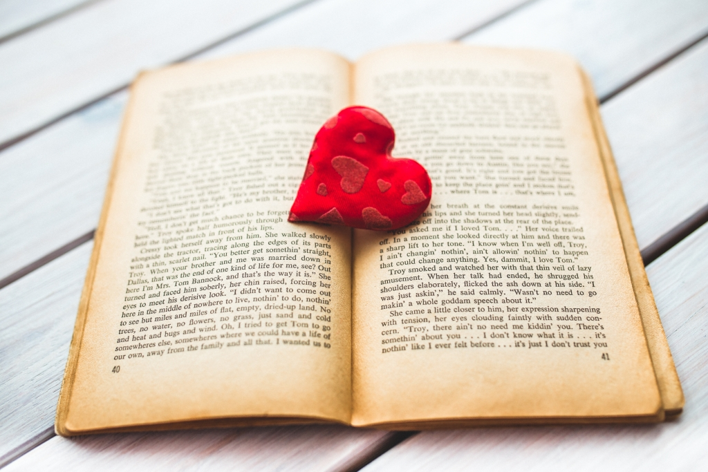 book heart Atlantic books with love