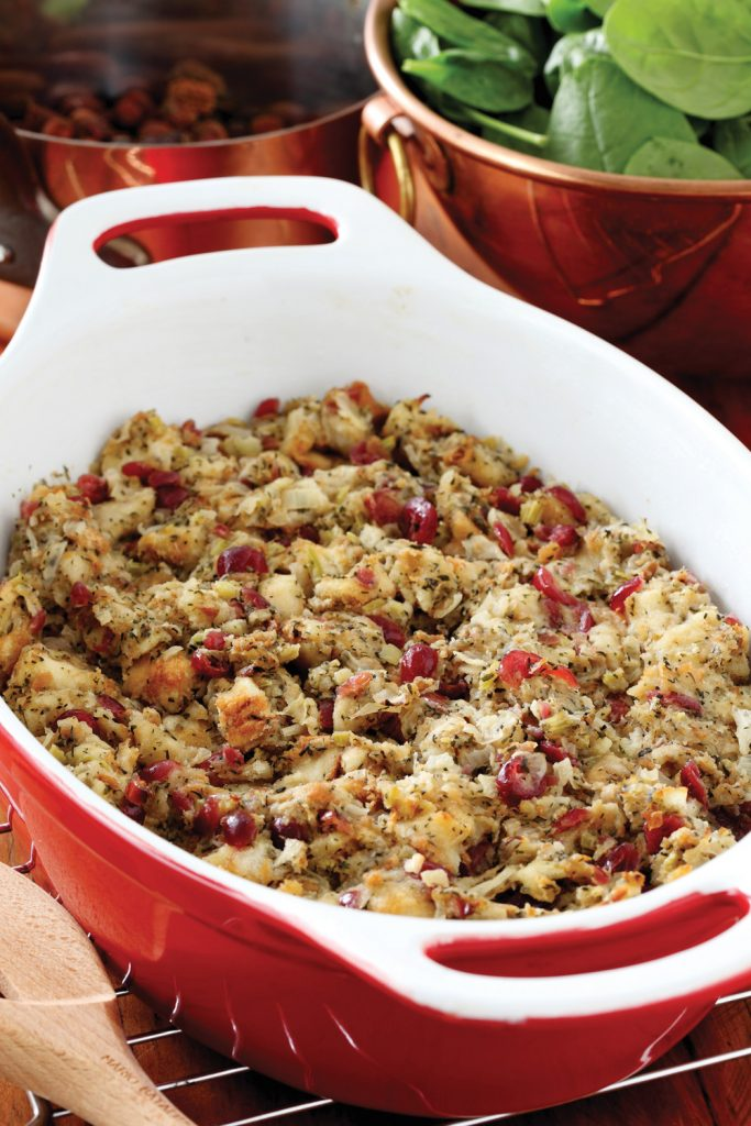 Turkey Stuffing/Farce pour la Dinde from Alain Bossé's The Acadian Kitchen. Photo by Perry Jackson.
