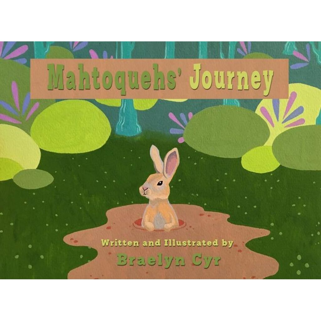 Cover of Mahtoquehs Journey, an illustration of a brown rabbit