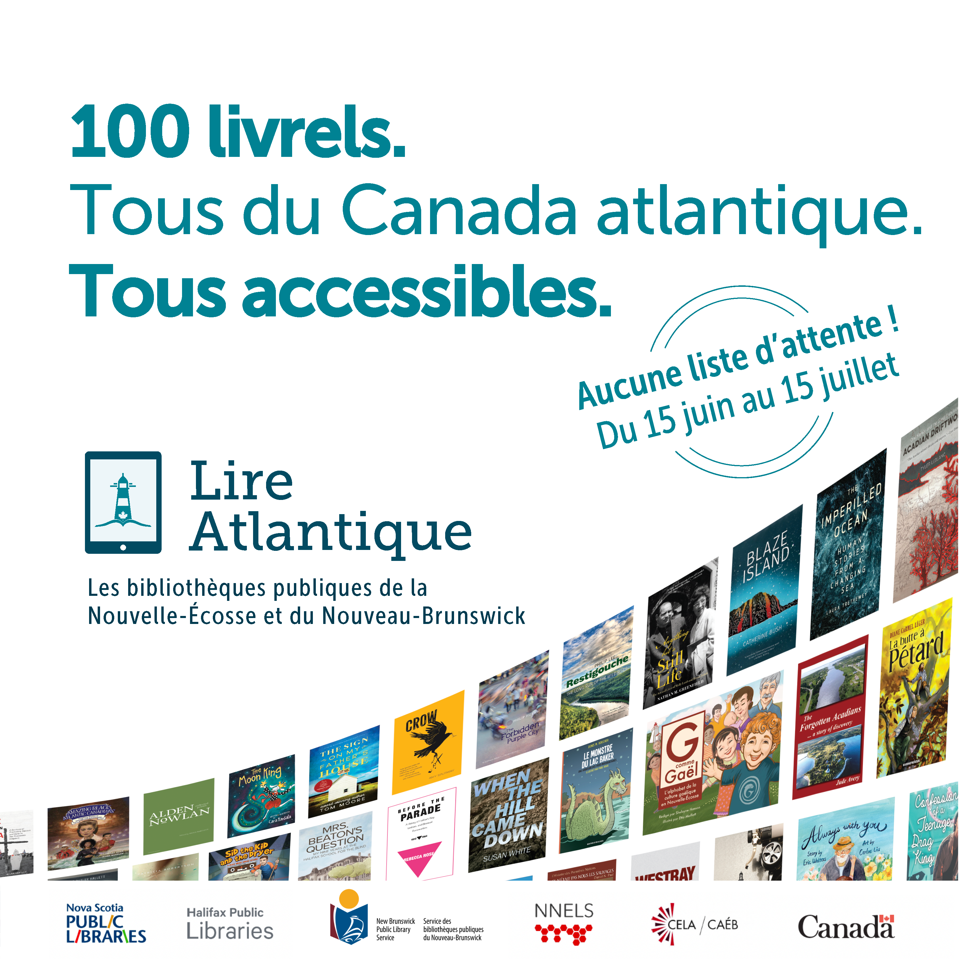 Les bibliothèques de la Nouvelle-Écosse et du Nouveau-Brunswick lancent une collection numérique de 100 livrels d'auteurs de notre région, convivialité d'accès garantie
