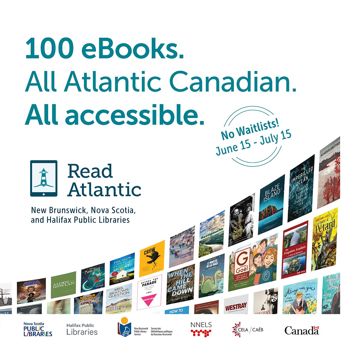 100 ebooks: All Atlantic Canadian, All Accessible